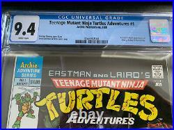 Archie Teenage Mutant Ninja Turtles Adventures 1 CGC 9.4 Newsstand WP