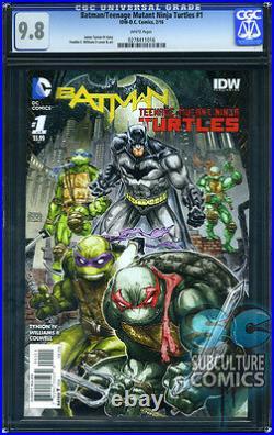 Batman Teenage Mutant Ninja Turtles #1 Cgc 9.8 Sold Out First Print Hot