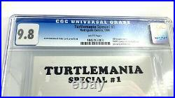 CGC 9.8 TURTLEMANIA SPECIAL #1 Rare TMNT Teenage Mutant Ninja Turtles 1986