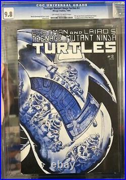 CGC 9.8 Teenage Mutant Ninja Turtles #2 (Mirage/1984) 1st Printing OW-W Pages