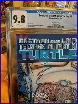 CGC 9.8 Teenage Mutant Ninja Turtles #7 2nd Print Mirage Studios TMNT