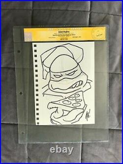 CGC Original Art ADAM HUGHES Teenage Mutant Ninja Turtles SKETCH TMNT signed 1 2