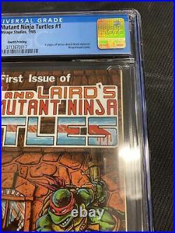 Cgc Graded 9.8 Teenage Mutant Ninja Turtles #1 (4th print)