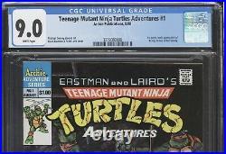 EASTMAN and LAIRD'S TEENAGE MUTANT NINJA TURTLES ADVENTURES #1 CGC 9.0