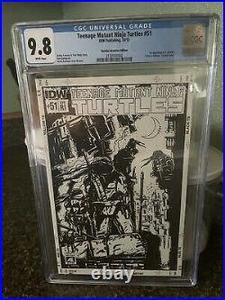 IDW TMNT Teenage Ninja Turtles #51 RI Variant 1st Jennika CGC Graded 9.8 Hot Key