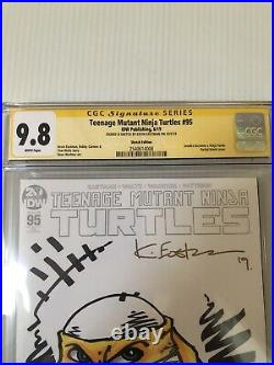 Kevin Eastman Signed Sketch Jennika Teenage Mutant Ninja Turtles #95 CGC 9.8 1
