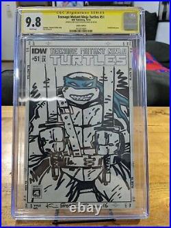 Kevin Eastman Signed Sketch Leonardo Teenage Mutant Ninja Turtles CGC SS 9.8
