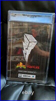 MMPR TMNT 1 Thank You Variant Power Rangers Ninja Turtles BOOM IDW CGC 9.8