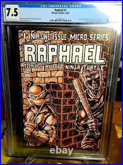 Mirage TMNT Teenage Mutant Ninja Turtles RAPHAEL #1 Comic Micro Series CGC 7.5