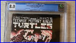 Mirage Teenage Mutant Ninja Turtles #1 CGC graded 8.0 White Pages 2nd print tmnt