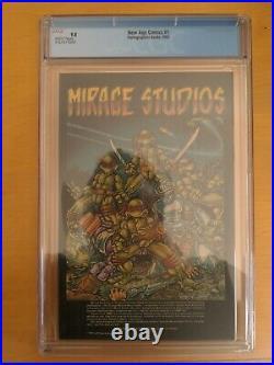 New Age Comics #1 CGC 9.8 1st Color Image Of Teenage Mutant Ninja Turtles HTF 1