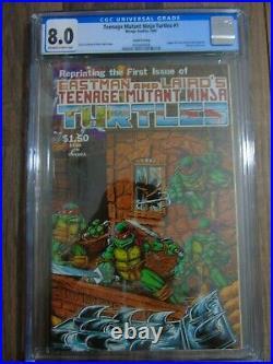 New Teenage Mutant Ninja Turtles #1 (4th Print) CGC Graded 8.0 1985 Key Issue
