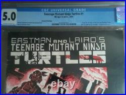 TEENAGE MUTANT NINJA TURTLES #1 2nd Print CGC 5.0 1st APPEARANCE TMNT