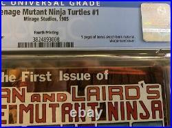 TEENAGE MUTANT NINJA TURTLES #1 -4th Printing CGC 9.6 Mirage Studios (RC) WP