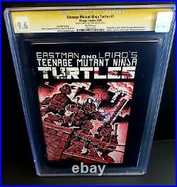 TEENAGE MUTANT NINJA TURTLES #1 Comic CGC 9.6 SS 2nd Laird WHITE PAGE 1984 TMNT