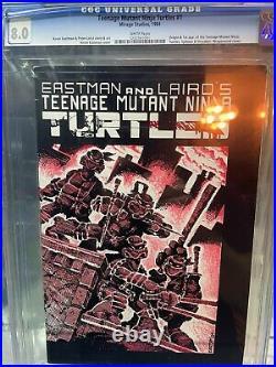 TEENAGE MUTANT NINJA TURTLES #1 (First Print) CGC 8.0 WHITE PAGES 1984 TMNT