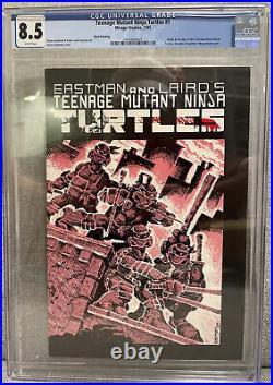 TEENAGE MUTANT NINJA TURTLES #1 Mirage 1985 CGC 8.5 3rd Print! TMNT