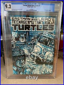 TEENAGE MUTANT NINJA TURTLES #3 - EASTMAN/LAIRD! CGC 9.2! 1985! Mirage Studios