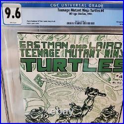 TEENAGE MUTANT NINJA TURTLES #4 1st print CGC 9.6 NM+ 1985 WHITE PGS, NEW CASE
