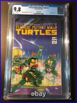 TEENAGE MUTANT NINJA TURTLES #4 2nd PRINT CGC 9.8 WP Mirage GRAIL! Second Print