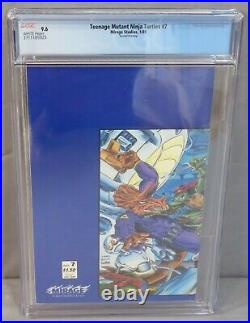 TEENAGE MUTANT NINJA TURTLES #7 (B&W 2nd Print Variant) CGC 9.6 NM+ Mirage 1989