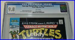TEENAGE MUTANT NINJA TURTLES ADVENTURES #1 CGC 9.8 1st ap BEBOP/ROCKSTEADY/KRANG