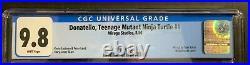 TEENAGE MUTANT NINJA TURTLES DONATELLO #1 (8/86) CGC 9.8 (WithP) BRAND NEW CASE