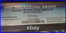 TEENAGE MUTANT NINJA TURTLES Tmnt 4 Second Print Error CGC 9.2 RECALLED TMNT
