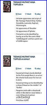 TEENAGE MUTANT NINJA Turtles #1 Mirage 1984 2nd Print CGC 9.4 SIGNED EASTMAN