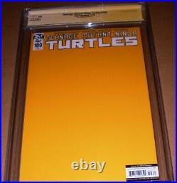 TMNT 100 Turtlemania Gold CGC SS 9.8 SIGNED Eastman Teenage Mutant Ninja Turtles