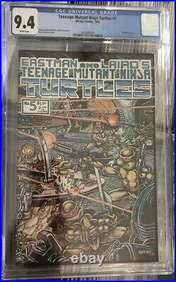 TMNT 1985 Mirage Comic Teenage Mutant Ninja Turtles #5 CGC 9.4 NM