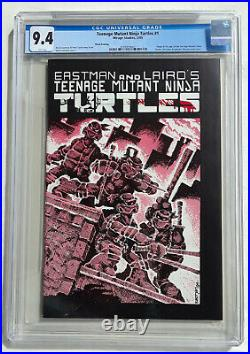 TMNT 1 3rd third print CGC 9.4 WP white First Teenage Mutant Ninja Turtles