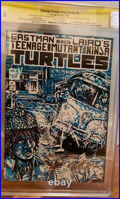 TMNT #3 CGC 9.4 NYCC variant Teenage Mutant Ninja Turtles Eastman & Laird signed