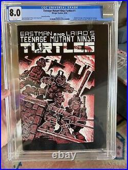 TMNT First Teenage Mutant Ninja Turtles #1 Mirage 1984 CGC 8.0 2nd Print
