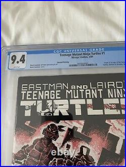 TMNT Teenage Mutant Ninja Turtles #1 2nd Print CGC 9.4 Near Mint White Pages