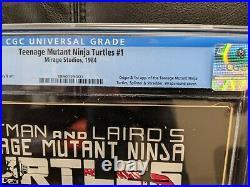 TMNT Teenage Mutant Ninja Turtles #1 CGC 8.0 OW-White Pages. First 1st print