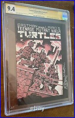 TMNT Teenage Mutant Ninja Turtles #1 CGC 9.4 3rd Print Signed By Kevin Eastman