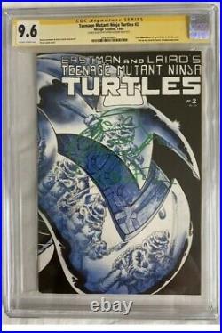 TMNT Teenage Mutant Ninja Turtles #2 First Print CGC 9.6 Signed SS Kevin Eastman