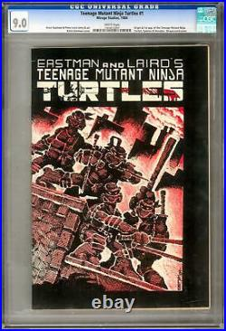 Teenage Muntant Ninja Turtles #1 CGC 9.0 (W) Origin 1st Appearance Shredder
