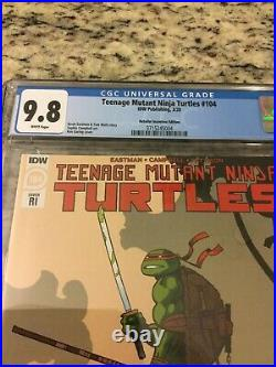 Teenage Mutant Ninja Turtles #104 Garing Variant CGC 9.8 White Pages Last Ronin