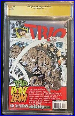 Teenage Mutant Ninja Turtles 10 Idw 2012 Cgc Ss 9.6 Signed Eastman Shredder Tmnt