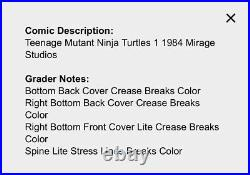 Teenage Mutant Ninja Turtles #1 (1984, Mirage) / 1st Print CGC 8.0 WHITE PAGES