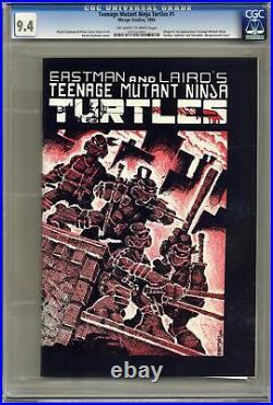 Teenage Mutant Ninja Turtles #1 1st Printing Variant 1st Printing CGC 9.4 1984
