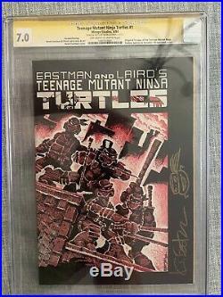 Teenage Mutant Ninja Turtles #1 2nd Print CGC 7.0 TMNT Signed Kevin Eastman
