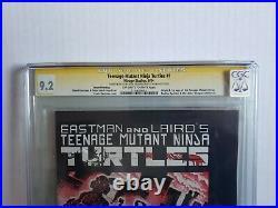 Teenage Mutant Ninja Turtles 1 2nd Print CGC 9.2 Sig Series Eastman Head Sketch
