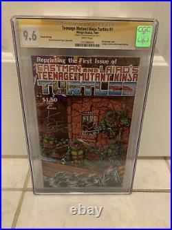 Teenage Mutant Ninja Turtles #1 4th Print 1985 9.6 CGC Signed By Kevin Eastman