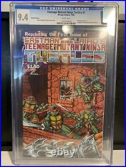 Teenage Mutant Ninja Turtles #1 4th Print Mirage Studios 1985 CGC 9.4
