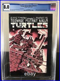 Teenage Mutant Ninja Turtles #1 CGC 8.0 3rd print White