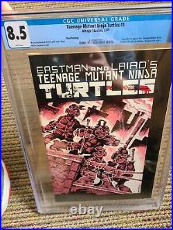 Teenage Mutant Ninja Turtles #1 CGC 8.5 THIRD PRINT WHITE PAGES TMNT Mirage