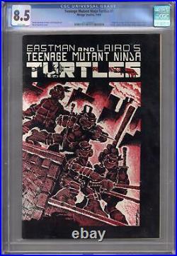 Teenage Mutant Ninja Turtles #1 CGC 8.5 (W) 1st Print 1st Splinter 1st Shredder